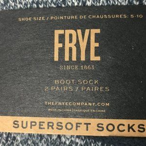 Frye Accessories - Frye Supersoft Boot Socks 2 Pack in Blue & Grey